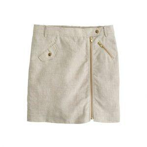 *LOWEST PRICE*NWOT J.Crew Linen Moto Skirt